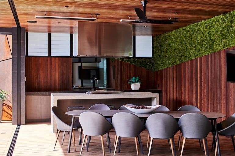 Evergreen Moss Wall Kitchen