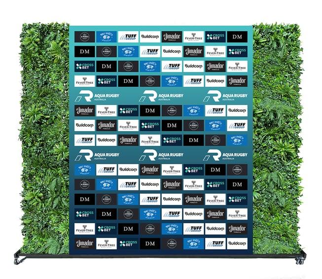 Aqua Rugby Media Wall Greenery