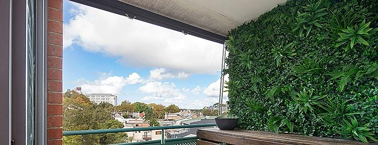 Outdoor vertical garden