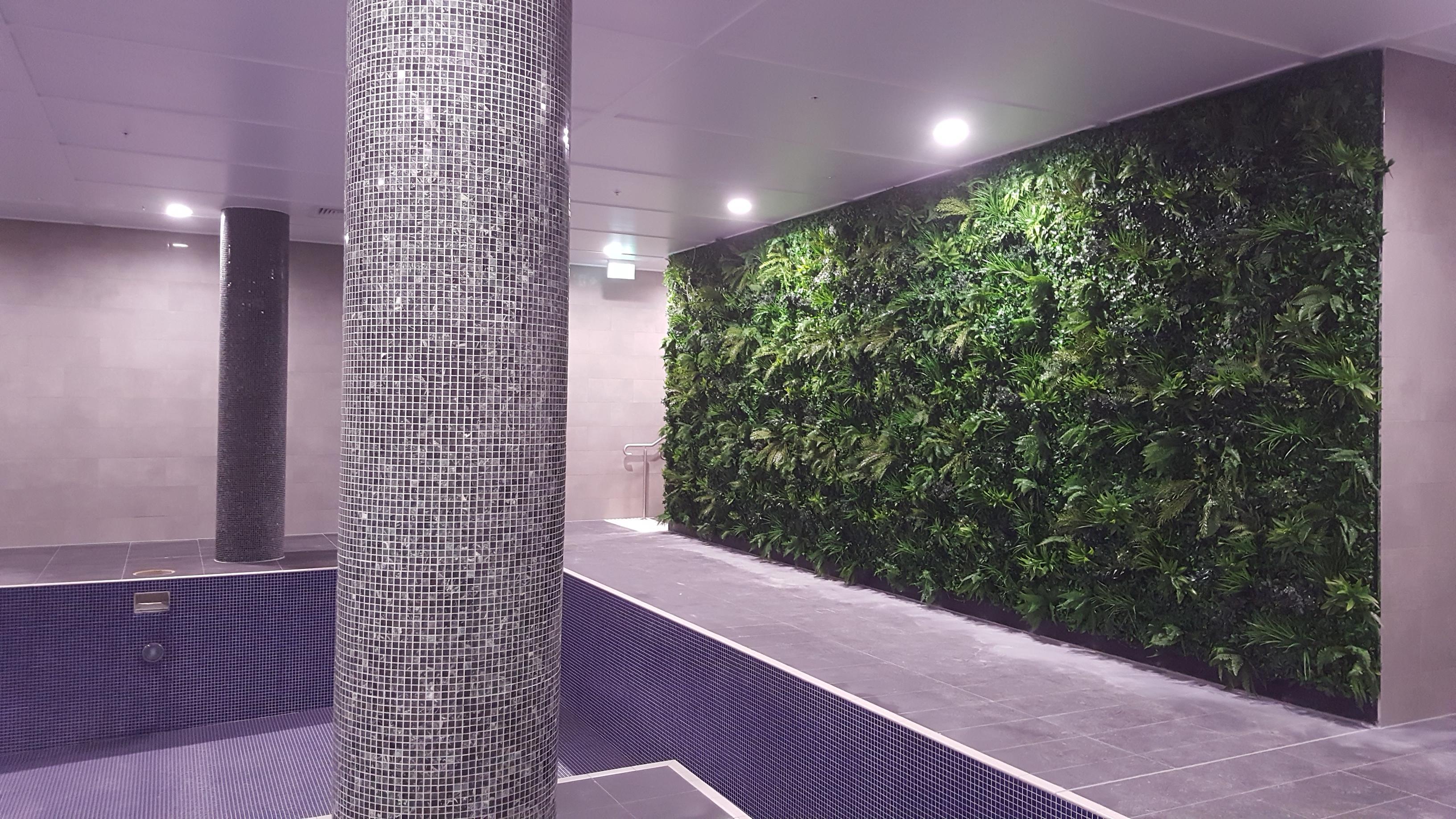 Indoor Swimming Pool Green Wall