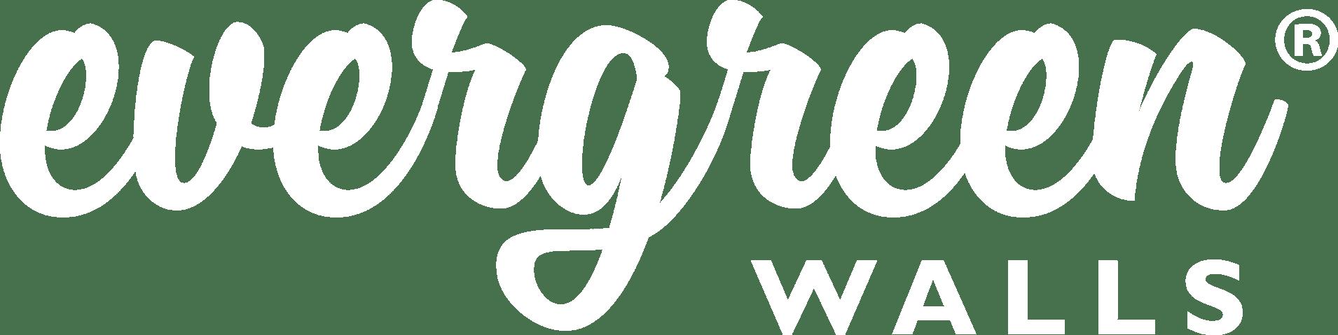 Evergreen Walls Logo R white