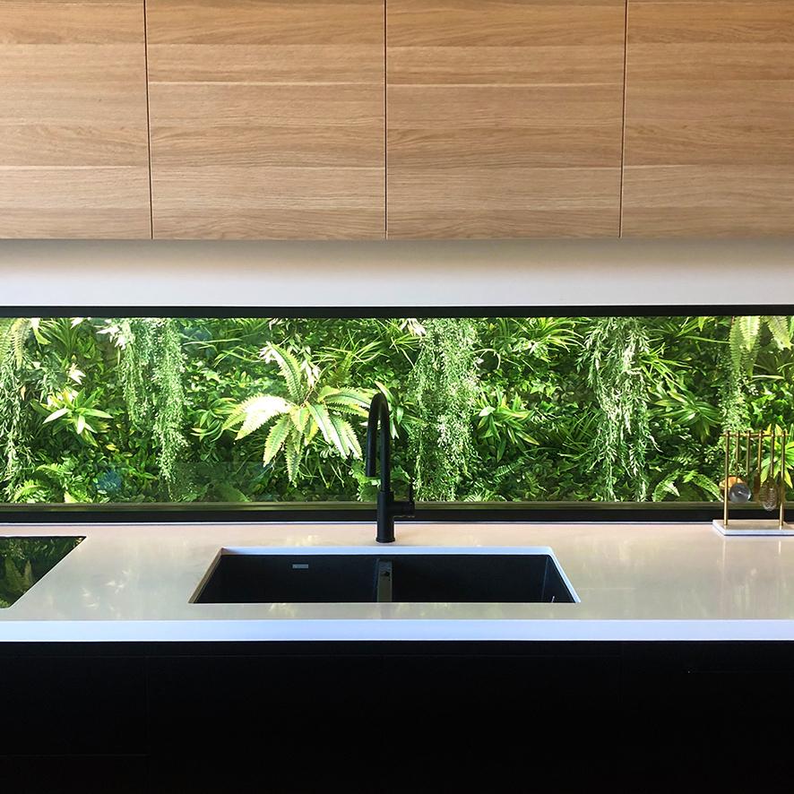 External Green Wall Kitchen Splash backjpg