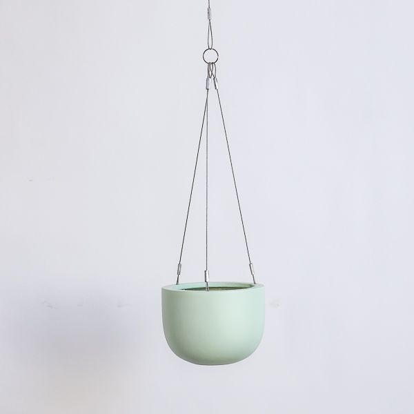 Maggie hanging planter bowl green solo