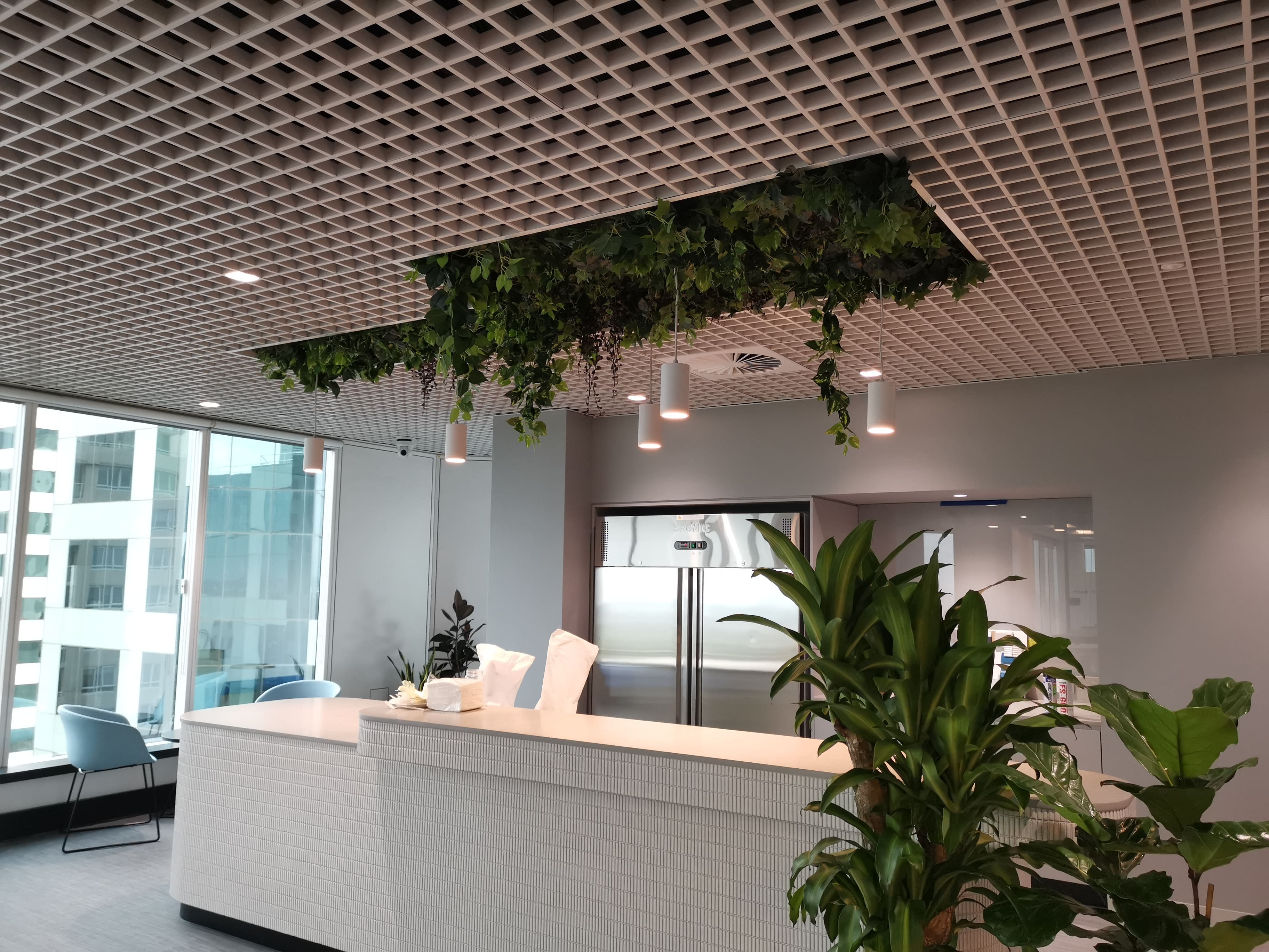 greenery installation for Cachet group-min