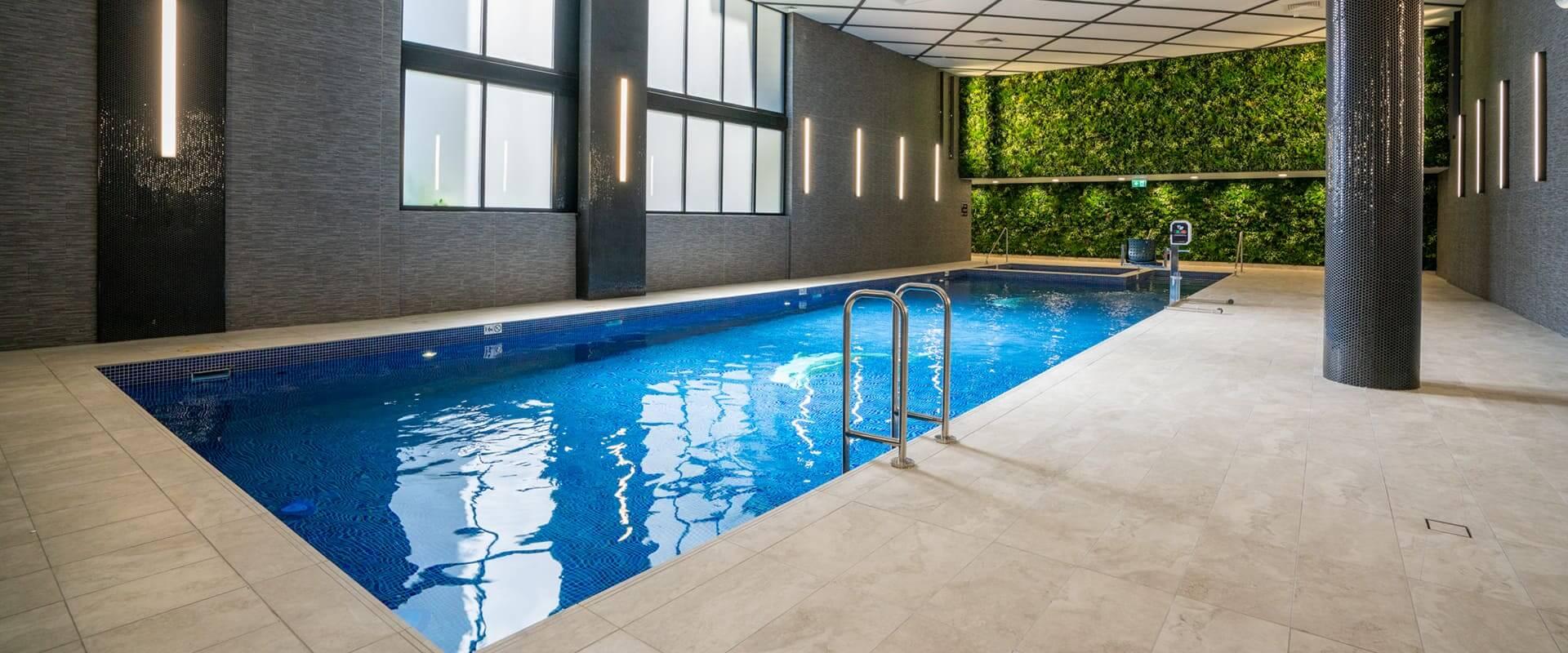 meriton pool green wall
