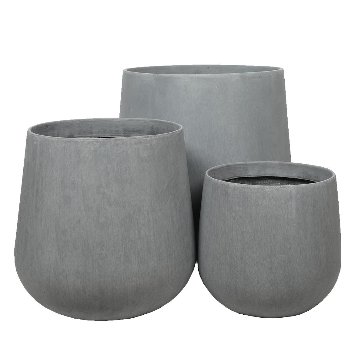 Paunch Pot Planter Cement Grey Collection